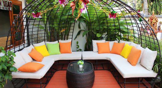 mobilier de patio de jardin