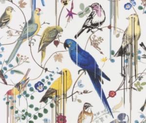 Papier peint Birds Sinfonia neige, Christian Lacroix